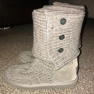 Like New! Classic Cardy Knit Ugg Boots